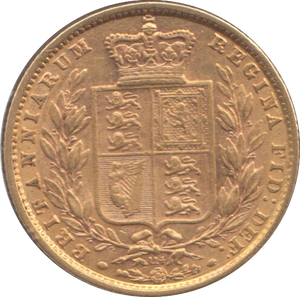 1870 SOVEREIGN ( GVF ) DIE 114 SHIELD BACK