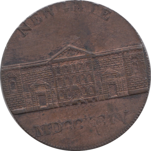 18TH CENTURY HALFPENNY TOKEN MIDDLESEX NEWGATE PRISON PAY SYMONDS AND HOLT DH393 ( EF ) ( REF 92 )