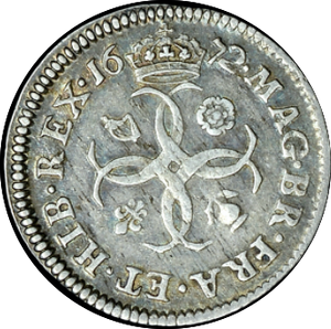 1672 MAUNDY FOURPENCE ( VF )