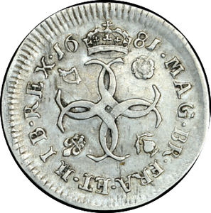 1681 MAUNDY FOURPENCE ( GVF )
