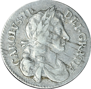 1681 MAUNDY FOURPENCE ( GF )