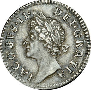 1686 MAUNDY FOURPENCE ( GVF ) JAMES II