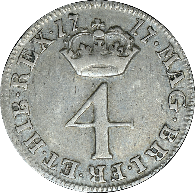1717 MAUNDY FOURPENCE ( VF )