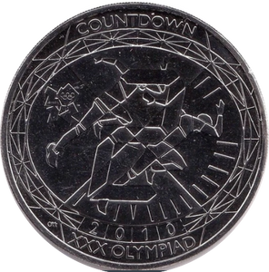 2010 BRILLIANT UNCIRCULATED LONDON OLYMPIC 2012 RUNNING £5 COIN BU
