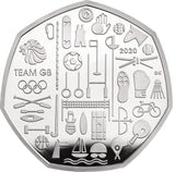 2020 50p FIFTY Pence Brilliant Uncirculated BU Coin TEAM GB TOKYO OLYMPICS