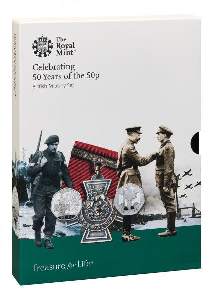 2019 Celebrating 50 years of the 50p British Military Proof Set