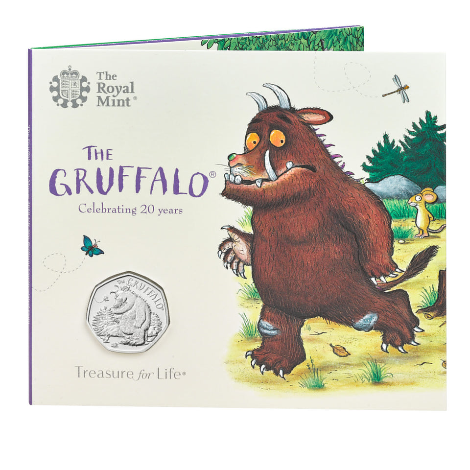 2019 NEW Fifty Pence 50p The Gruffalo & Mouse Brilliant Uncirculated BU Pack