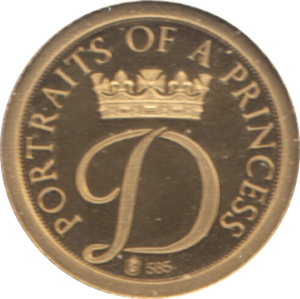1997  GOLD PROOF PORTRAIT OF A PRINCESS DIANA PRINCESS OF WALES A LEGEND REF 18 A