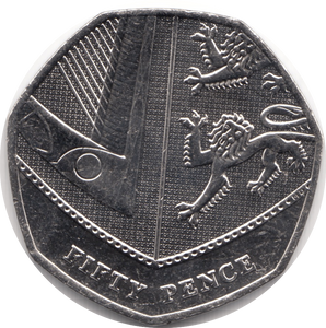 NEW 2019 CIRCULATED 50P SECTION OF SHIELD