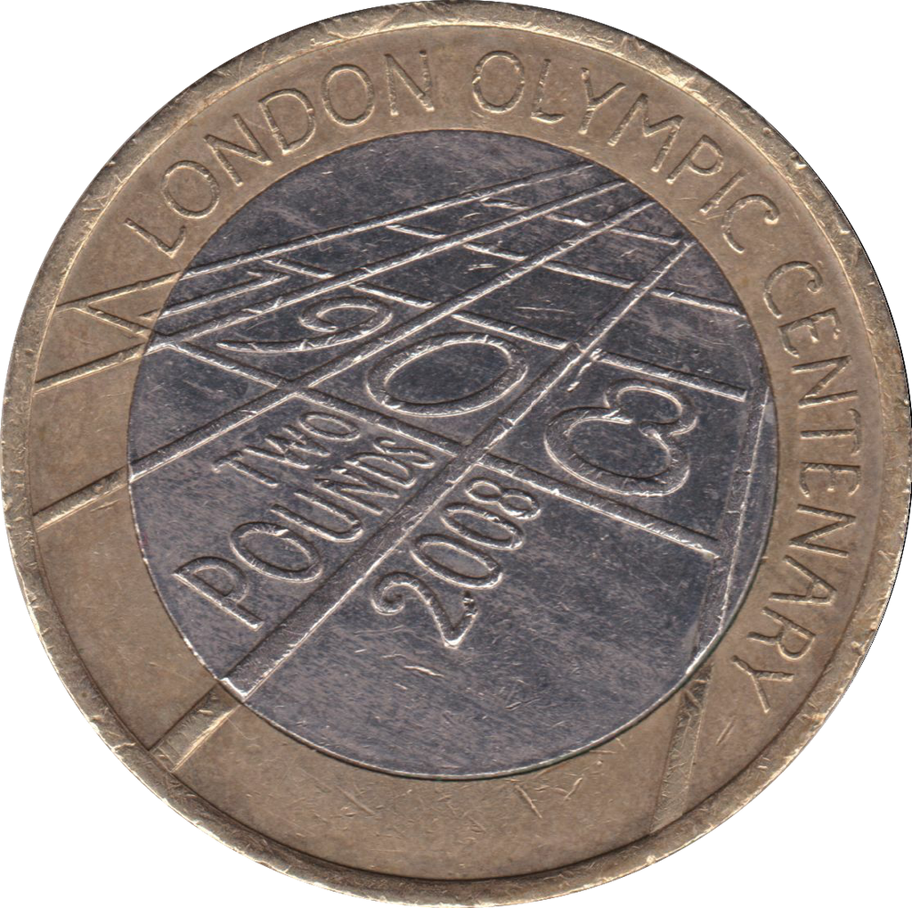 2008 £2 CIRCULATED KING CENTENARY 4TH OLYMPIAD