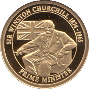 2010 GOLD PROOF  SIR WINSTON CHURCHILL THE GREATEST BRITONS  WITH COA . REF 34