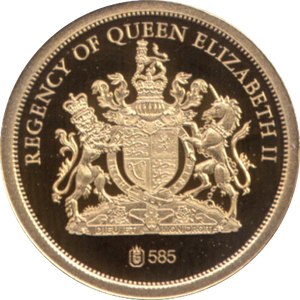 2012 GOLD PROOF REGENCY OF QUEEN ELIZABETH II THE DIAMOND JUBILEE REF 42