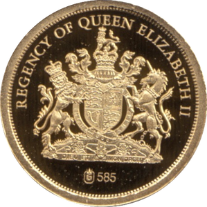 2012 GOLD PROOF THE DIAMOND  JUBILEE REGENCY OF QUEEN ELIZABETH II REF 25
