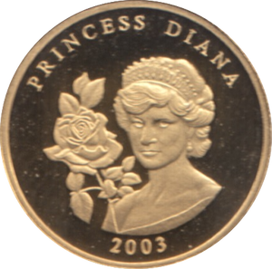 2003 GOLD PROOF PRINCESS DIANA PLVRIMVS AVRO VENIT HONOR REF 23