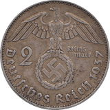 1937 SILVER 2 MARKS NAZI STATE GERMANY REF H89