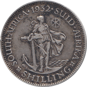 1932 SILVER SHILLING GEORGE V SOUTH AFRICA REF H105
