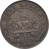 1924 BASE SILVER SHILLING BRITISH EAST AFRICA REF 134