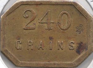 240 GRAIN CHEMISTS WEIGHT BRITISH BRASS REF H146