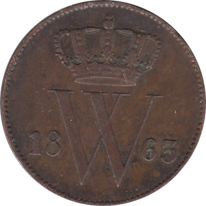 1863 ONE CENT NETHERLANDS REF H163
