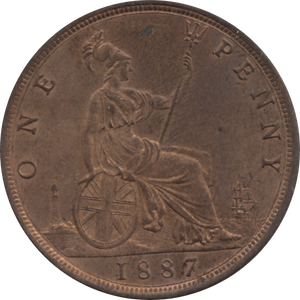 1887 PENNY 1 ( UNC ) 78