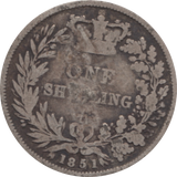 1851 SHILLING COUNTER STAMPED ( FAIR )