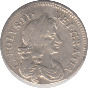 1678 MAUNDY THREEPENCE ( GVF )