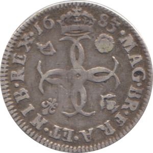 1683 MAUNDY FOURPENCE ( GF )