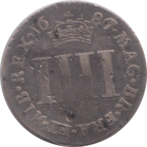 1686/7 MAUNDY FOURPENCE ( NF ) 1