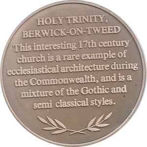 SILVER PROOF MEDALLION HOLY TRINITY CHURCH BERWICK-ON-TWEED REF 9 FAMOUS CHURCH'S AND CATHEDRALS