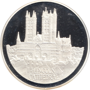 SILVER PROOF MEDALLION LINCOLN CATHEDRAL REF 12 FAMOUS CHURCH'S AND CATHEDRALS