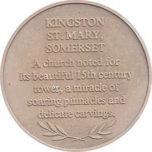 SILVER PROOF MEDALLION KINGSTON ST MARY CHURCH SOMERSET REF 17 FAMOUS CHURCH'S AND CATHEDRALS