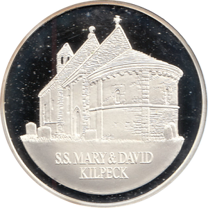 SILVER PROOF MEDALLION SS MARY AND DAVID CHURCH KILPECK REF 20 FAMOUS CHURCH'S AND CATHEDRALS