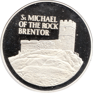 SILVER PROOF MEDALLION ST MICHAELS CHURCH BRENTOR REF 24 FAMOUS CHURCH'S AND CATHEDRALS