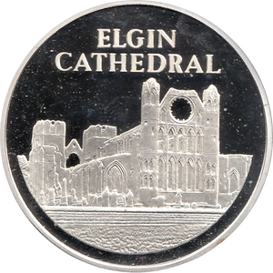 SILVER PROOF MEDALLION ELGIN CATHEDRAL REF 26 FAMOUS CHURCH'S AND CATHEDRALS