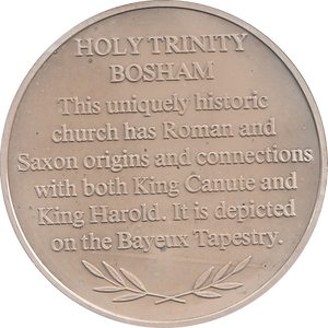 SILVER PROOF MEDALLION HOLY TRINITY CHURCH BOSHAM REF 27 FAMOUS CHURCH'S AND CATHEDRALS