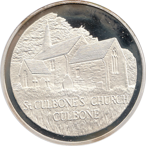SILVER PROOF MEDALLION ST CULBONES CURCH REF 31 FAMOUS CHURCH'S AND CATHEDRALS