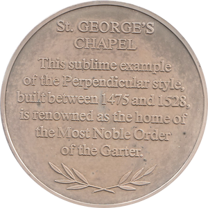 SILVER PROOF MEDALLION ST GEORGES CHAPEL REF 35 FAMOUS CHURCH'S AND CATHEDRALS