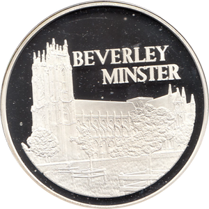 SILVER PROOF MEDALLION BEVERLEY MINSTER 29 FAMOUS CHURCH'S AND CATHEDRALS