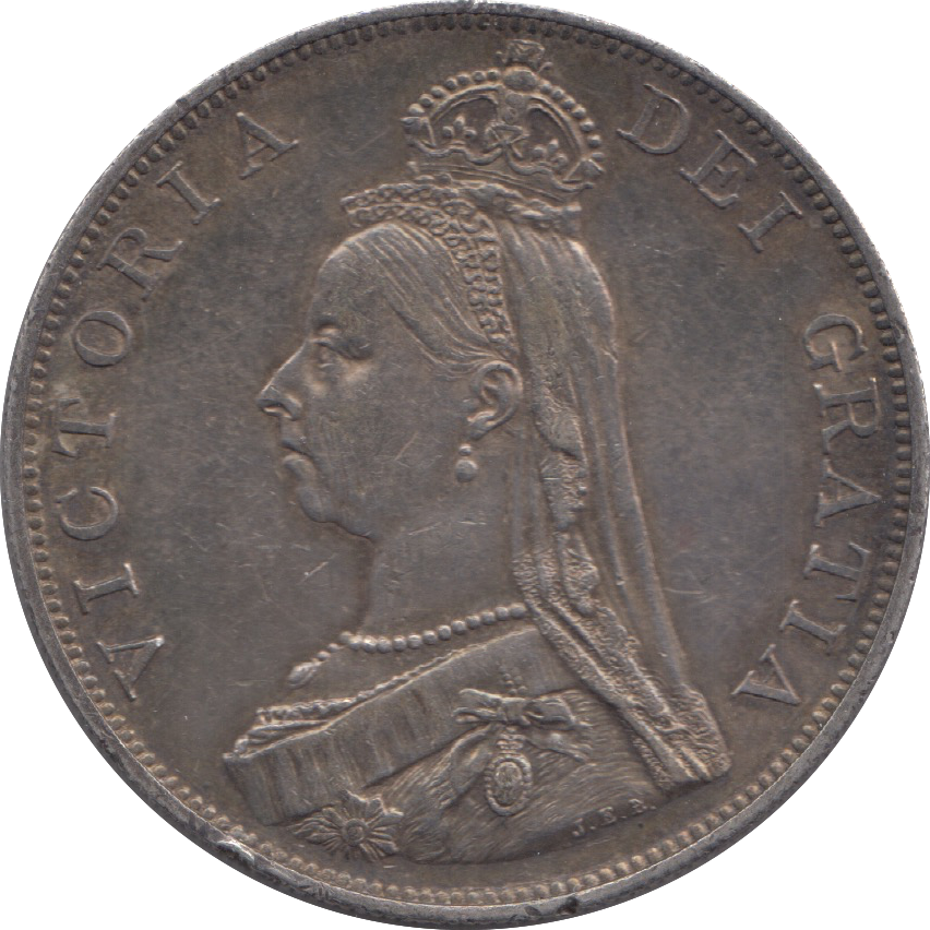 1887 DOUBLE FLORIN ( EF ) 4