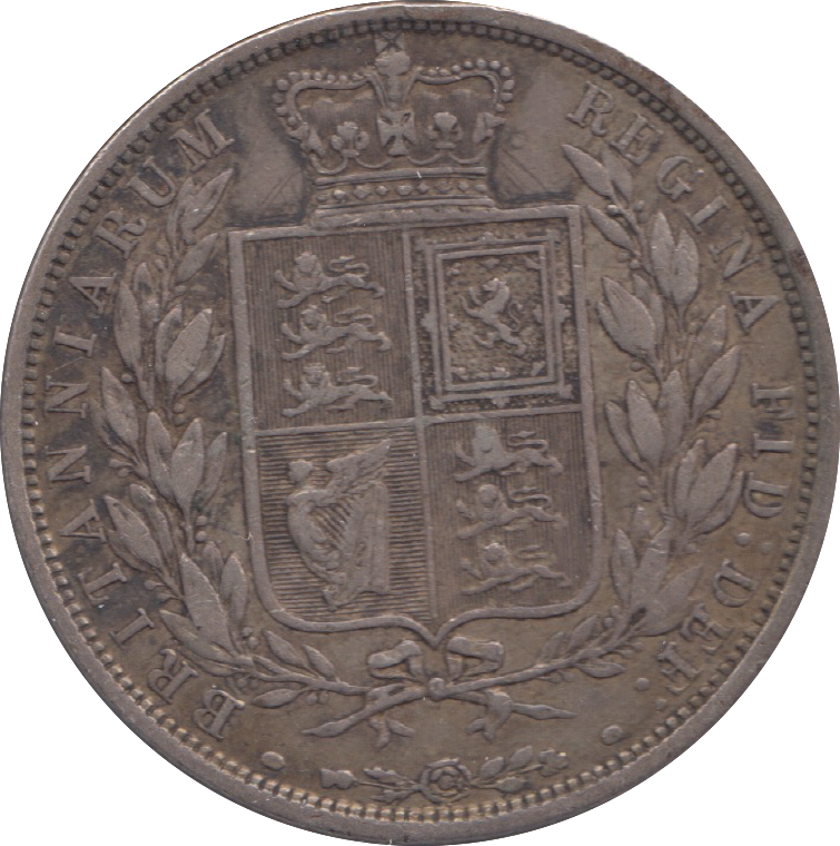 1883 HALFCROWN ( VF ) 4