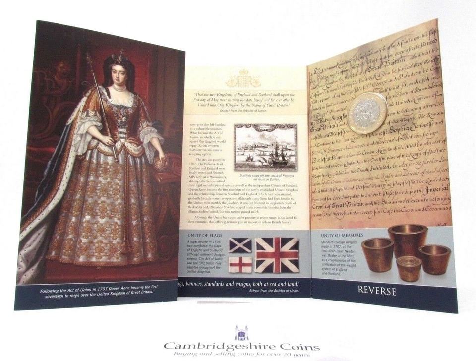 2007 £2 UNCIRCULATED PRESENTATION PACK ACT OF UNION