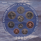 2007 BRILLIANT UNCIRCULATED COIN YEAR SET