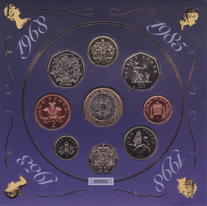 1998 BRILLIANT UNCIRCULATED COIN YEAR SET