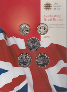 2011 BRILLIANT UNCIRCULATED COIN YEAR SET