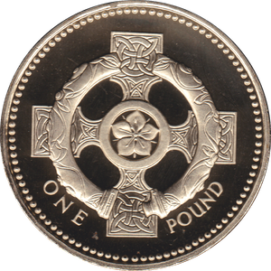 1996 ONE POUND PROOF £1 CELTIC CROSS
