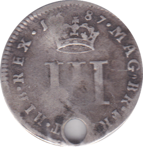 1687 MAUNDY THREEPENCE ( FAIR ) B