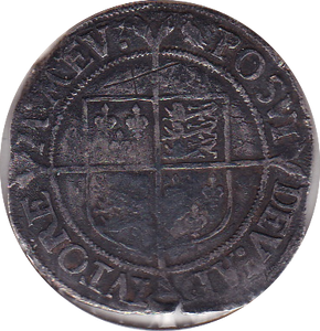 1559 - 60 ELIZABETH 1ST SILVER SHILLING  FIRST ISSUE ( SPINK 2549 ) 2A BUST REF 27
