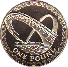 2007 ONE POUND PROOF GATESHEAD MILLENNIUM BRIDGE