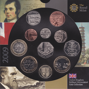 2009 BRILLIANT UNCIRCULATED COIN YEAR SET