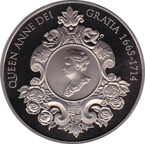 2014 FIVE POUND COIN PROOF ( DEATH OF QUEEN ANN )